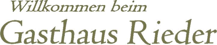 Gashaus-Rieder